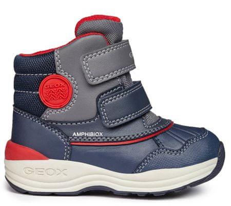 Geox chłopięce buty zimowe za kostkę New Gulp, 20, niebieskie