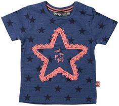 Dirkje Dívčí tričko s hvězdičkami - tmavě modré