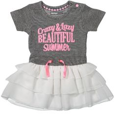 Dirkje Dívčí šaty s kanýrky - šedo-bílé