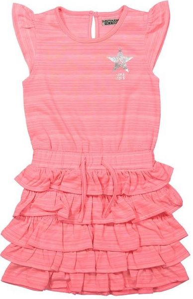Dirkje Dívčí šaty s kanýry - růžové