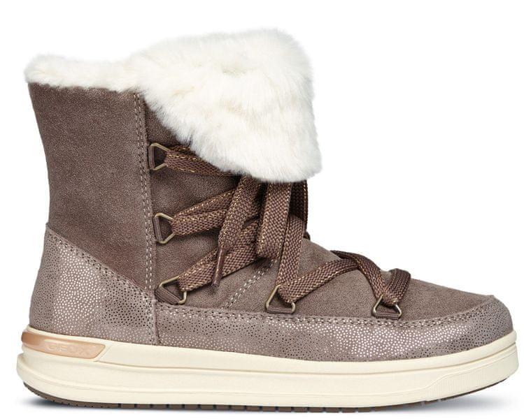 Geox dívčí zimní boty Aveup 33 hnědá