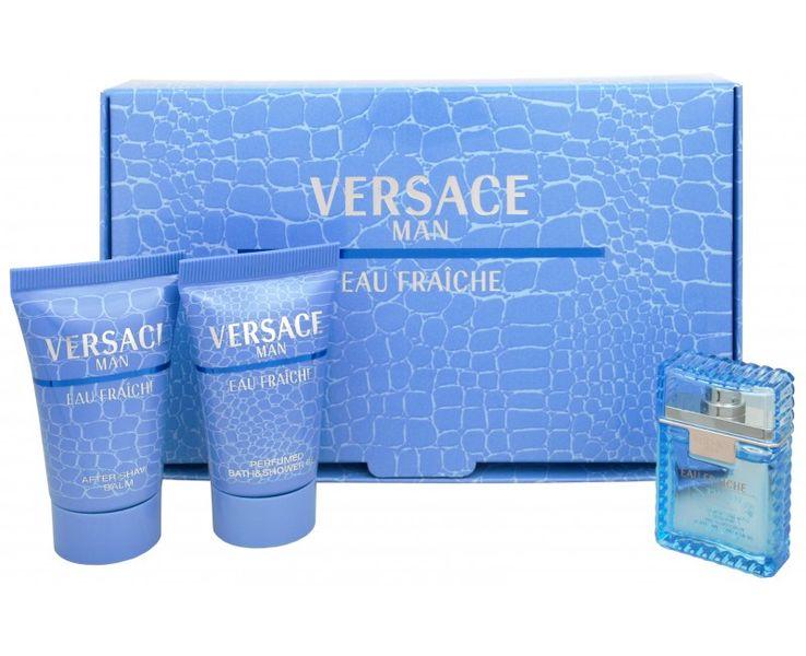 Versace Eau Fraiche Men EdT 5 ml + sprchový gel 25 ml + balzám po holení 25 ml dárková sada