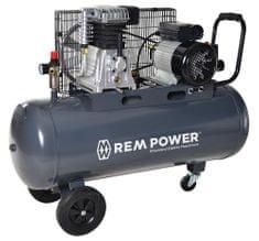REM POWER batni kompresor E 400/10/100, 230 V + 4 delni pnevmatski set