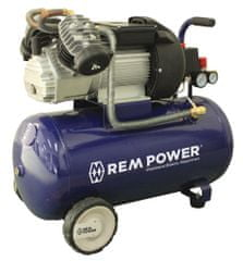 REM POWER batni kompresor EV 380/10/50, 230 V + 4 delni pnevmatski set