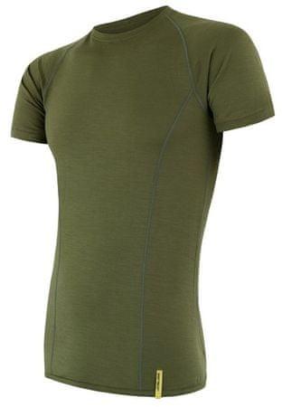 Sensor moška majica s kratkimi rokavi Merino Wool Active, zelena, L