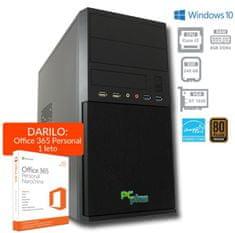 PCplus namizni računalnik e-office i3-7100/8GB/240GB/GT1030/Win10H (136977)