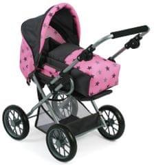Bayer Chic voziček za punčke Leni, sivo roza