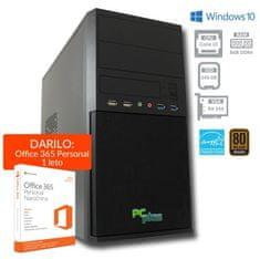 PCplus namizni računalnik e-office i3-7100/8GB/240GB/RX550/Win10H (136991)