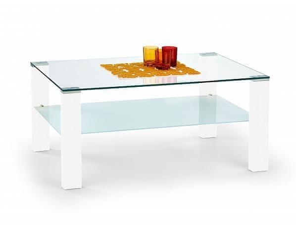 Bílý konferenční stolek Simple