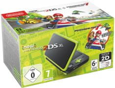 Nintendo New 2DS XL, černá/zelená + Mario Kart 7 (NI3H97240)