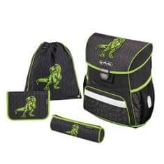 Herlitz Školní batoh Loop dino zelený - vybavený