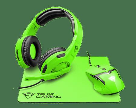 Trust gaming set Spectra GXT790, zelen