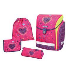 Herlitz Školní batoh Midi srdce růžové - vybavený