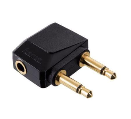 Hama adapter, 2 X 3,5 MONO PL-3,5 STEREO JA