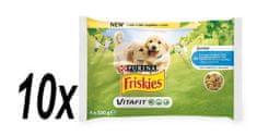Friskies JUNIOR Dog multipack s kuřetem a hráškem v želé 10x (4x100g)
