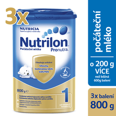 Nutrilon 1 počáteční mléko 3 x 800g