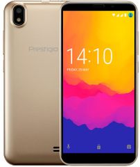 PRESTIGIO Wize Q3 mobiltelefon, Dual SIM, arany