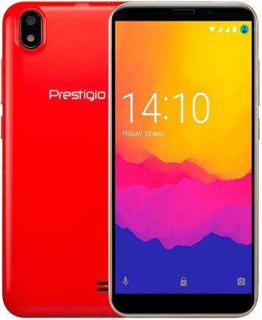 PRESTIGIO Wize Q3, Dual SIM mobiltelefon, piros
