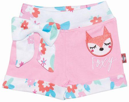2be3 dívčí kraťasy Foxy 62 bílá/růžová