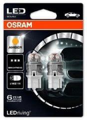 Osram Žárovka typ W21W, 12V, 1,5W LED, Ledriving oranžová