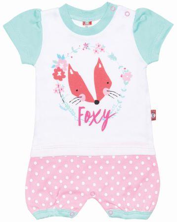 2be3 kombinezon dziewczęcy Foxy 62 biały/różowy
