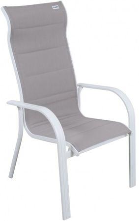 Doppler Krzesło aluminiowe biały/beżowy
