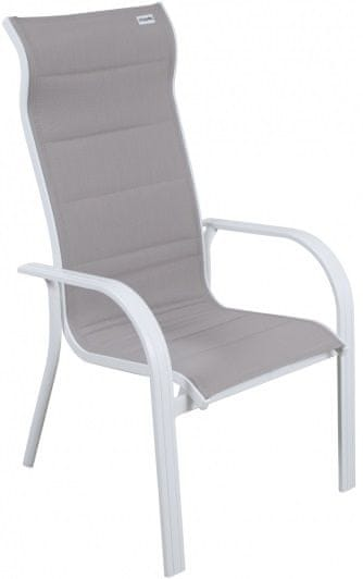 Doppler Miami židle stohovací bílá/béžová