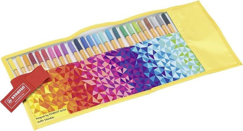 Popisovač Stabilo Point 88 Rollerset Fan Edition 25 barev