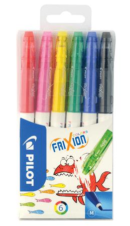 Pilot set barvnih pisal Fixy Frixion Colors, 6 barv, zbrisljive