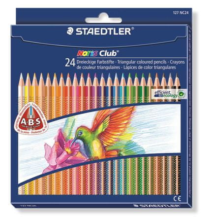 Staedtler Noris Club színes ceruzák, 24 szín, háromszög alakú