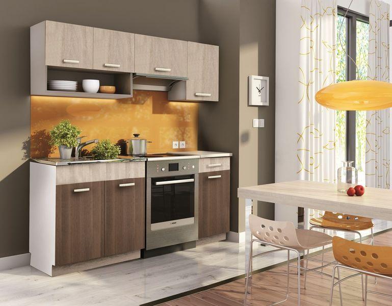 Kuchyně MOORENO 120/180 cm, dub sonoma/akácie
