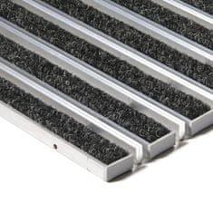 FLOMAT Textilní hliníková kartáčová vnitřní vstupní rohož Alu Extra, FLOMAT - 1,7 cm