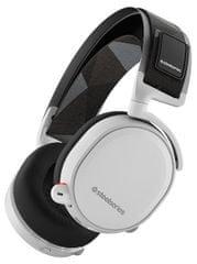 SteelSeries brezžične slušalke Arctis 7, bele
