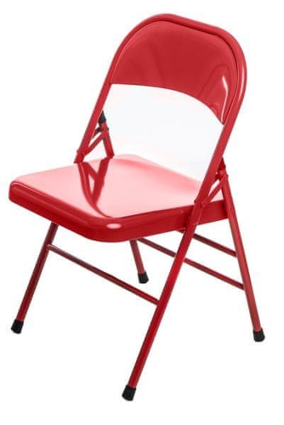Mørtens Furniture Jídelní židle skládací Cortis, červená