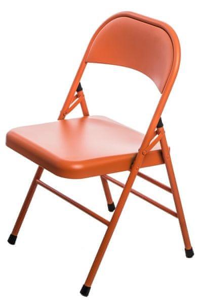 Mørtens Furniture Jídelní židle skládací Cortis, oranžová