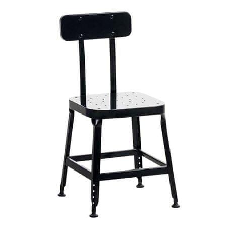 BHM Germany Jídelní židle kovová Eaton, černá