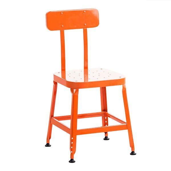 BHM Germany Jídelní židle kovová Eaton, oranžová