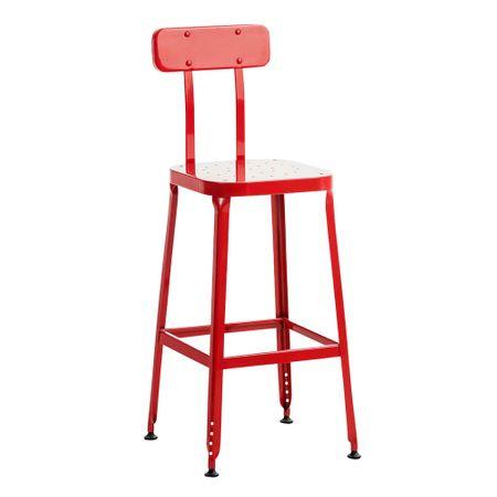 BHM Germany Barová židle kovová Eaton, červená