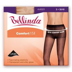 Bellinda punčochové kalhoty BE223015 COMFORT 15 DEN černá L