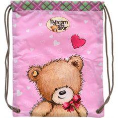 Popcorn Bear vrečka za copate 1