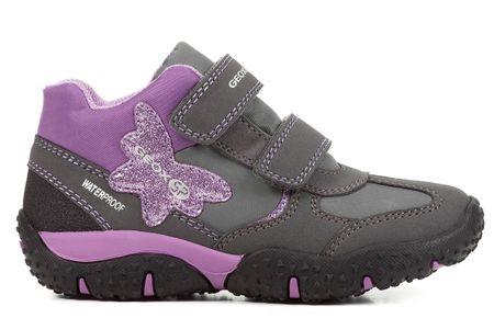 Geox dívčí kotníčkové boty Baltic 32 šedá  4a2672360d