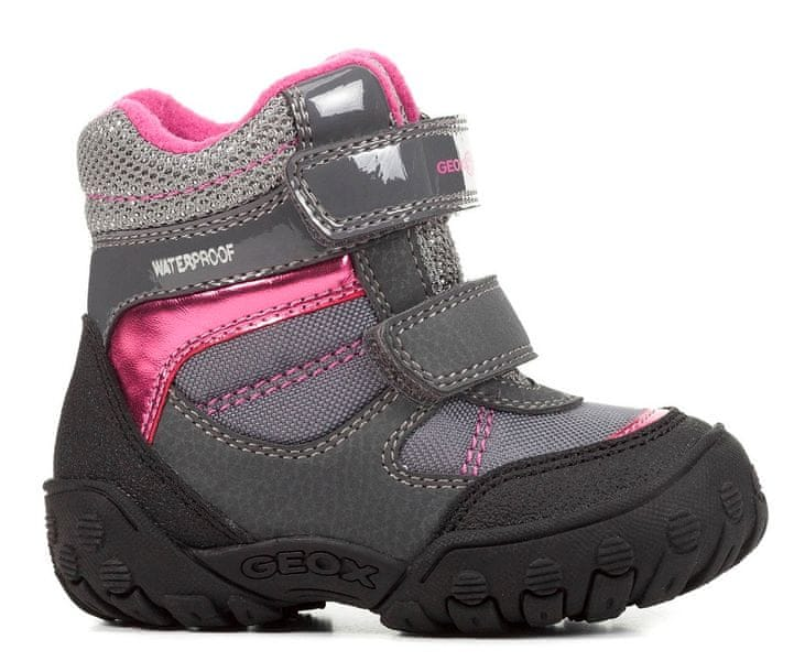 Geox dívčí zimní boty Gulp 20 šedá