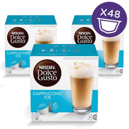 NESCAFÉ Dolce Gusto Ice Cappuccino kava 216g (16 kapsul), trojno pakiranje
