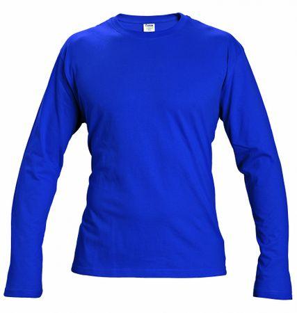 Červa Bavlnené tričko s dlhým rukávom Cambon modrá L