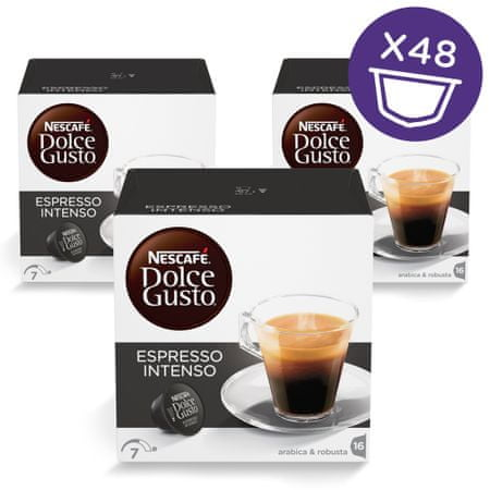 NESCAFÉ Dolce Gusto Espresso Intenso kava 128g (16 kapsul), trojno pakiranje