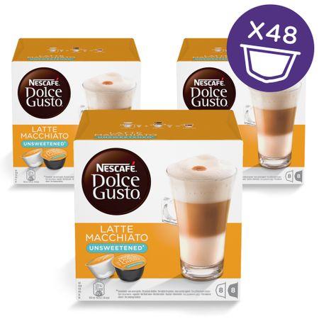 NESCAFÉ Dolce Gusto® kávové kapsle Latte Macchiato Unsweetened 3balení