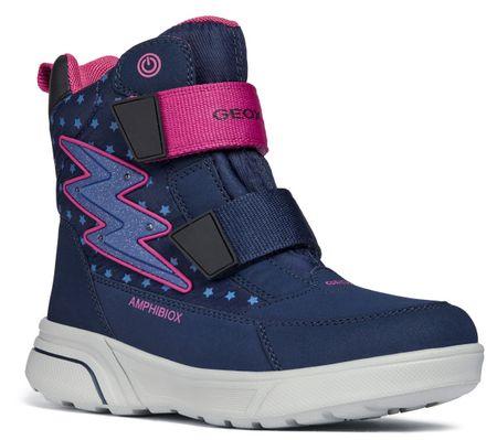 4f368cf3621 Geox dívčí svítící zimní boty Sveggen 28 modrá