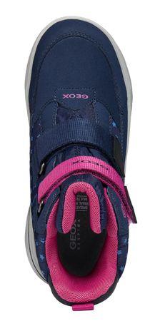 Geox dívčí svítící zimní boty Sveggen 28 modrá  459af512e3