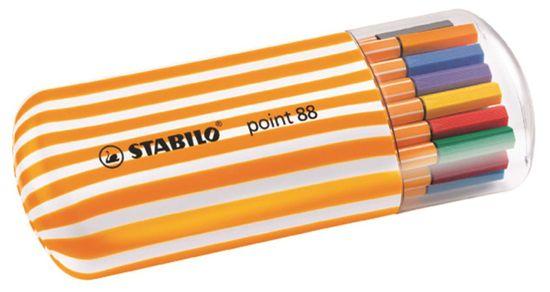 Stabilo Liner Point 88 Twister Zebrui, 20 barev, 0,4mm
