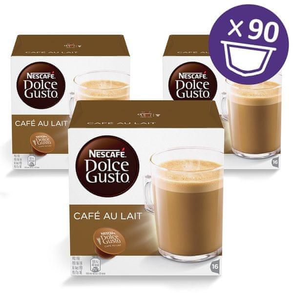 NESCAFÉ Dolce Gusto® kávové kapsle Café au Lait 3balení XXL